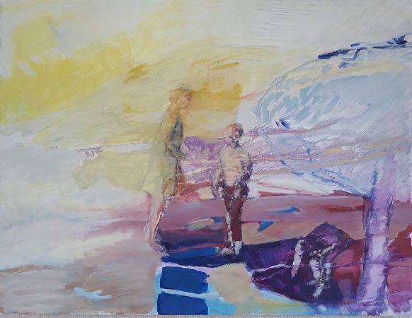 Plein soleil Huile sur toile 15F
